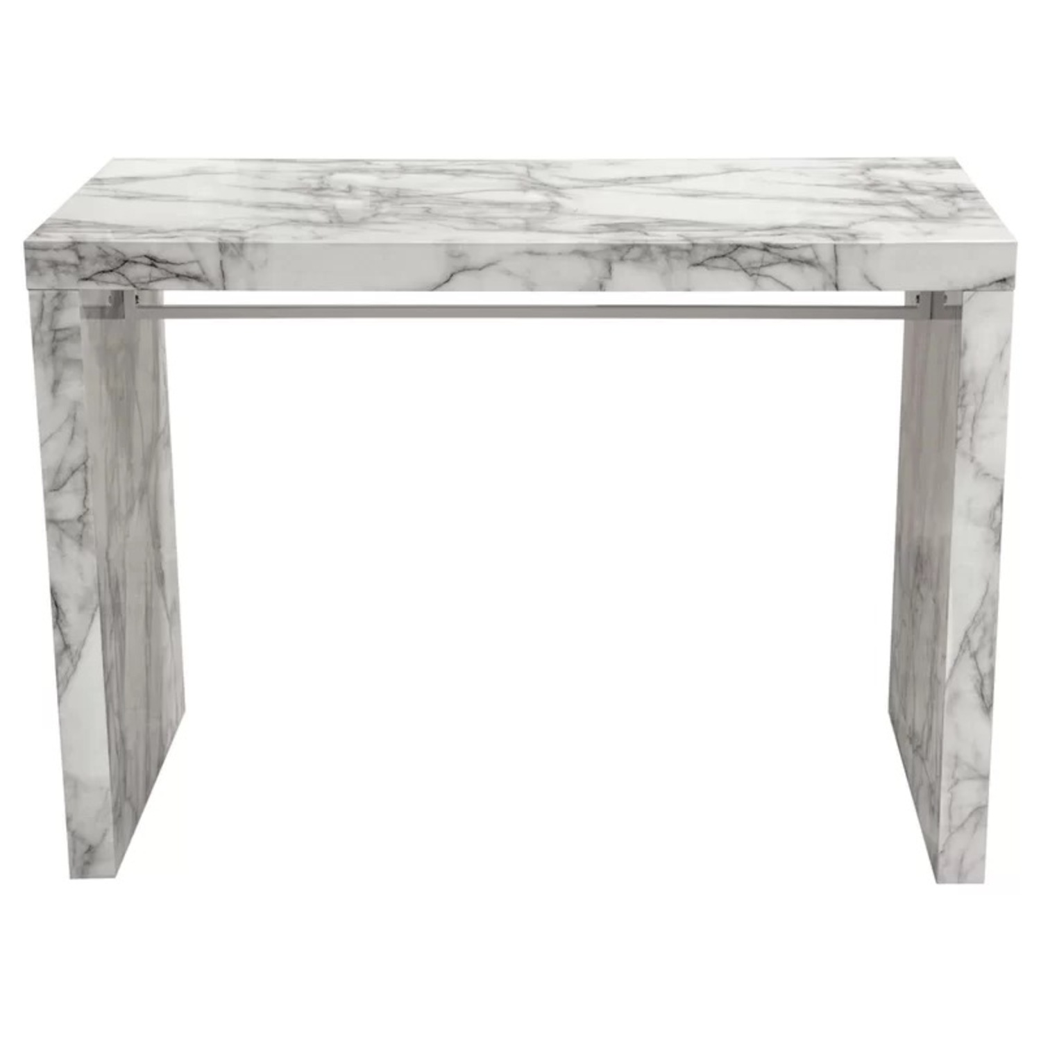 Icon Faux Marble Waterfall Bar Height Table - image-8