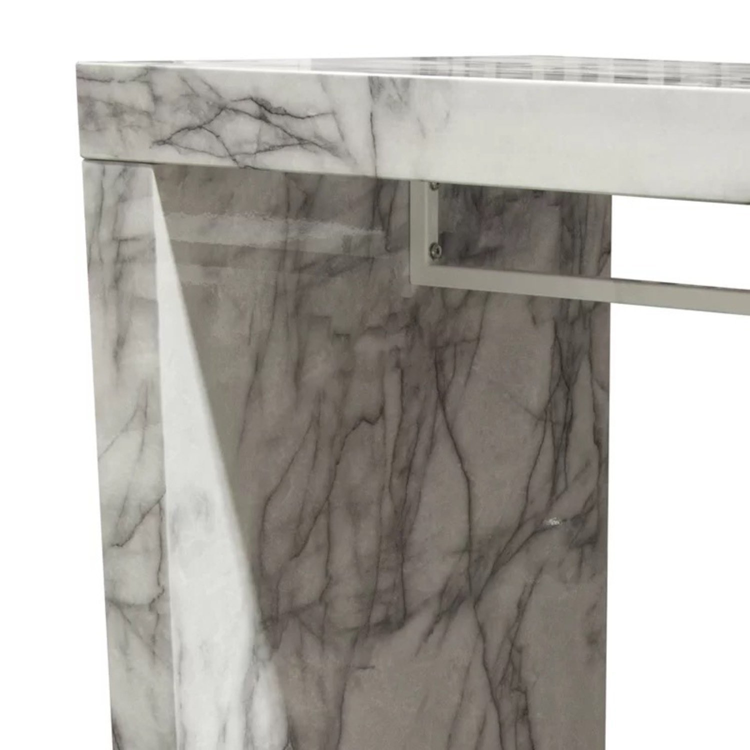 Icon Faux Marble Waterfall Bar Height Table - image-5