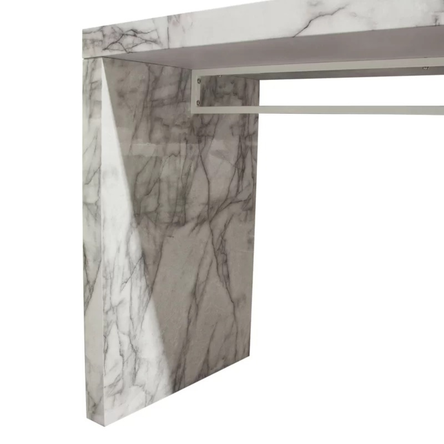 Icon Faux Marble Waterfall Bar Height Table - image-2