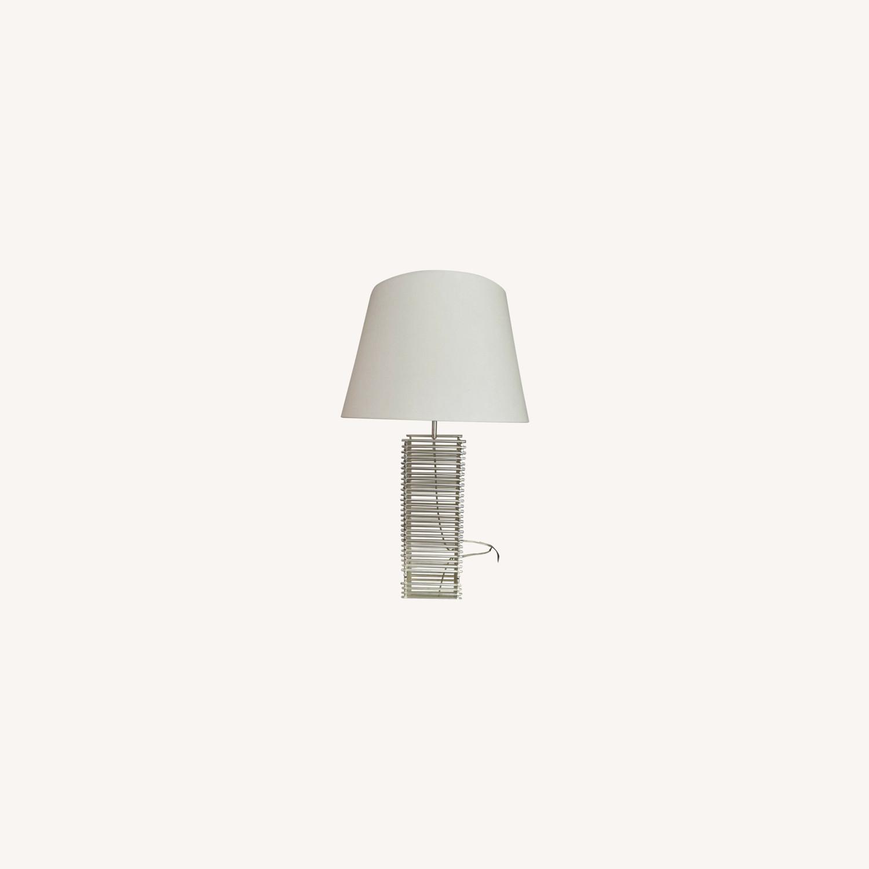 Thomas Pheasant Stack Table Lamp Baker Furniture - image-0