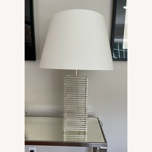 Used Thomas Pheasant Stack Table Lamp Baker Furniture for sale on AptDeco