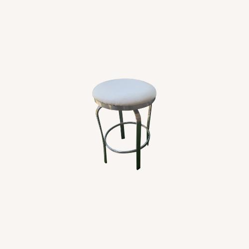 Used Chintaly Set of 5 Backless White Stools for sale on AptDeco