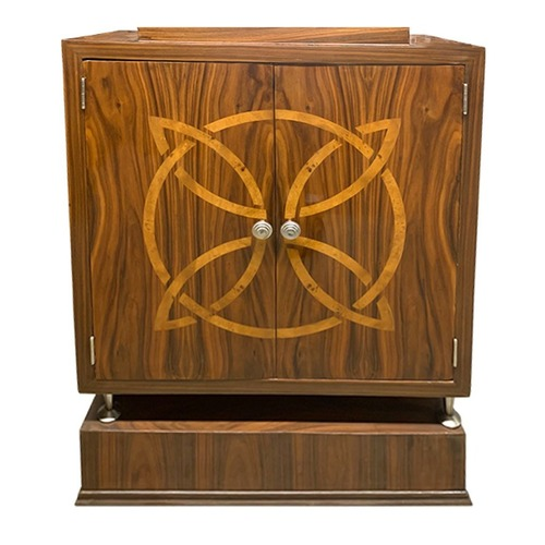 Used Inlaid Two-Door Cabinet on Base for sale on AptDeco