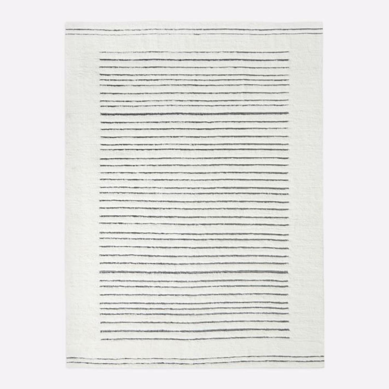 West Elm Banded Shag Rug, 5'x8', Alabaster - image-2