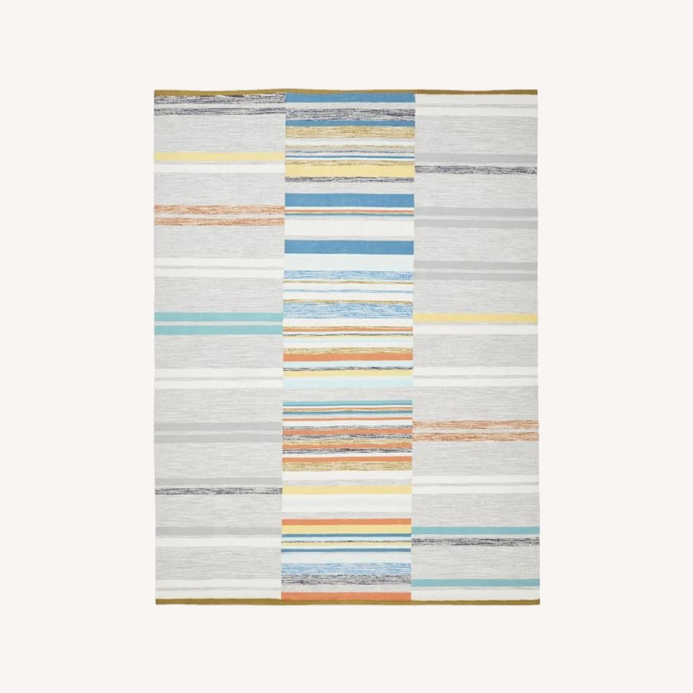 West Elm Mixed Stripes Dhurrie, Multi, 5'x8' - image-0