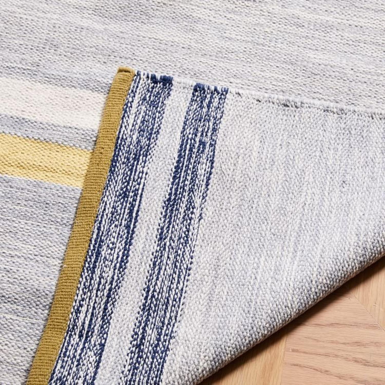 West Elm Mixed Stripes Dhurrie, Multi, 5'x8' - image-2