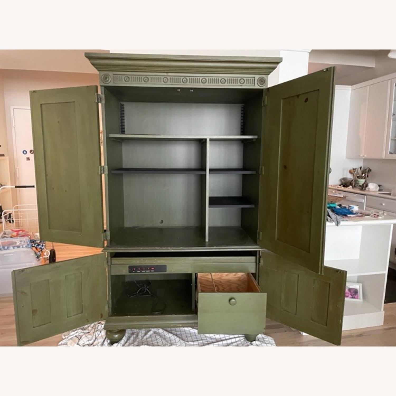 Ballard Desk Armoire -Green Wood - image-2