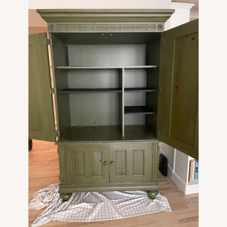 Ballard Desk Armoire -Green Wood - image-3