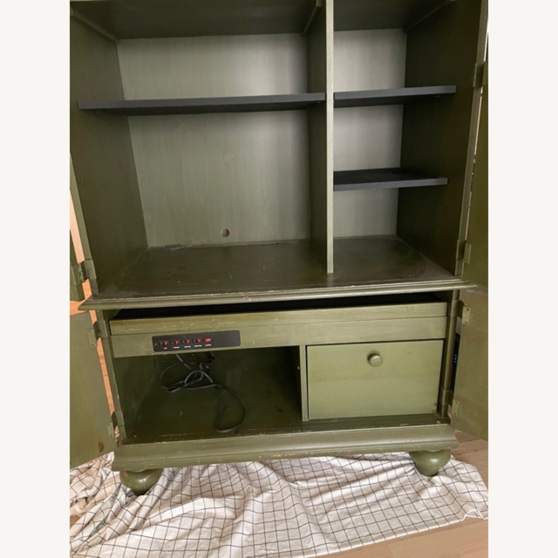 Ballard Desk Armoire -Green Wood - image-5