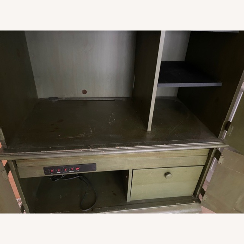 Ballard Desk Armoire -Green Wood - image-4