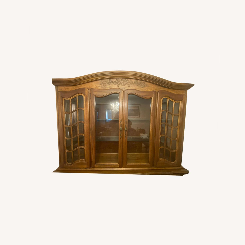 Antique Display Hutch Top - image-0