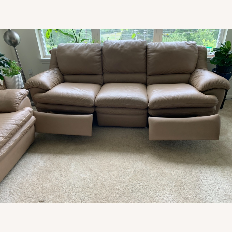 Natuzzi Leather Recliner Sofa - image-2