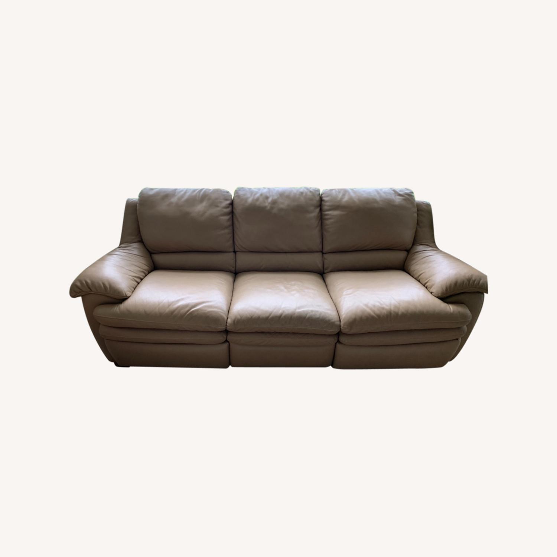 Natuzzi Leather Recliner Sofa - image-0