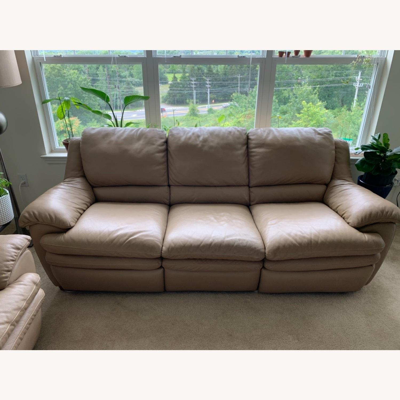Natuzzi Leather Recliner Sofa - image-1