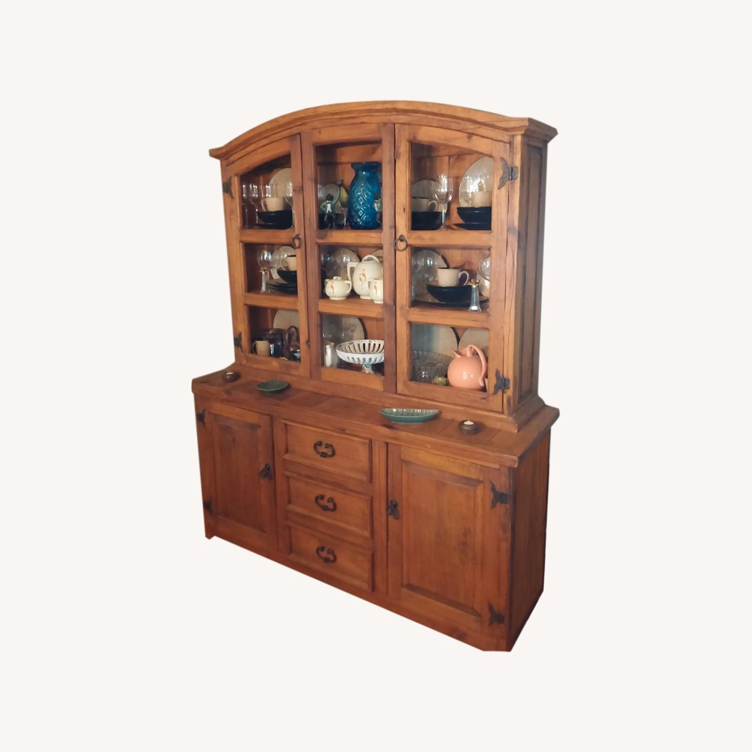 Castillion Style Breakfront with Hutch - image-0