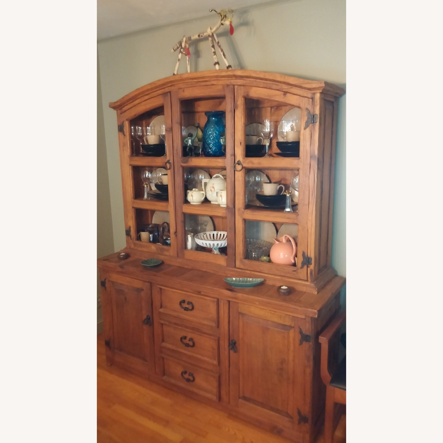 Castillion Style Breakfront with Hutch - image-2