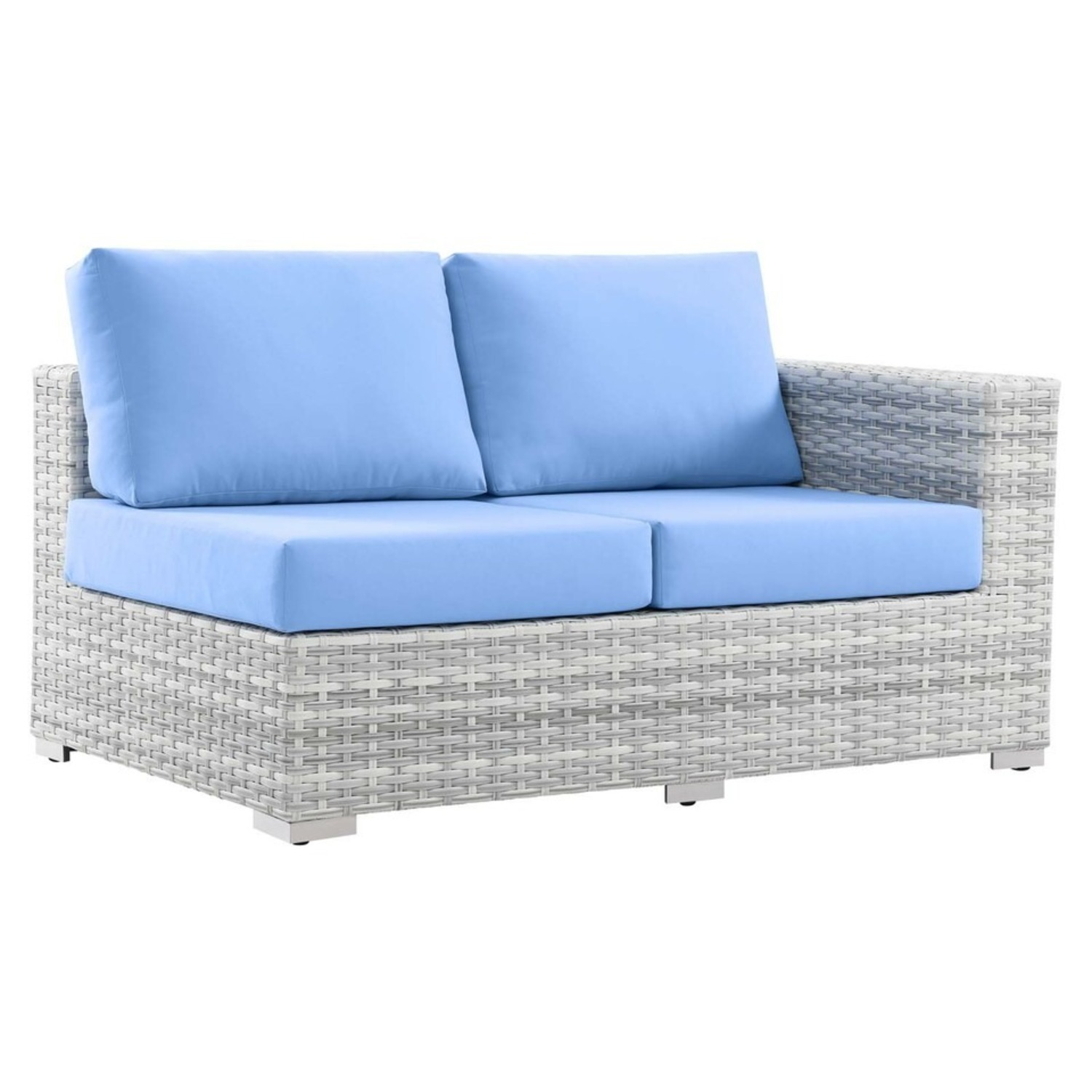 6-Piece Outdoor Patio Sectional In Light Blue Seat - image-5