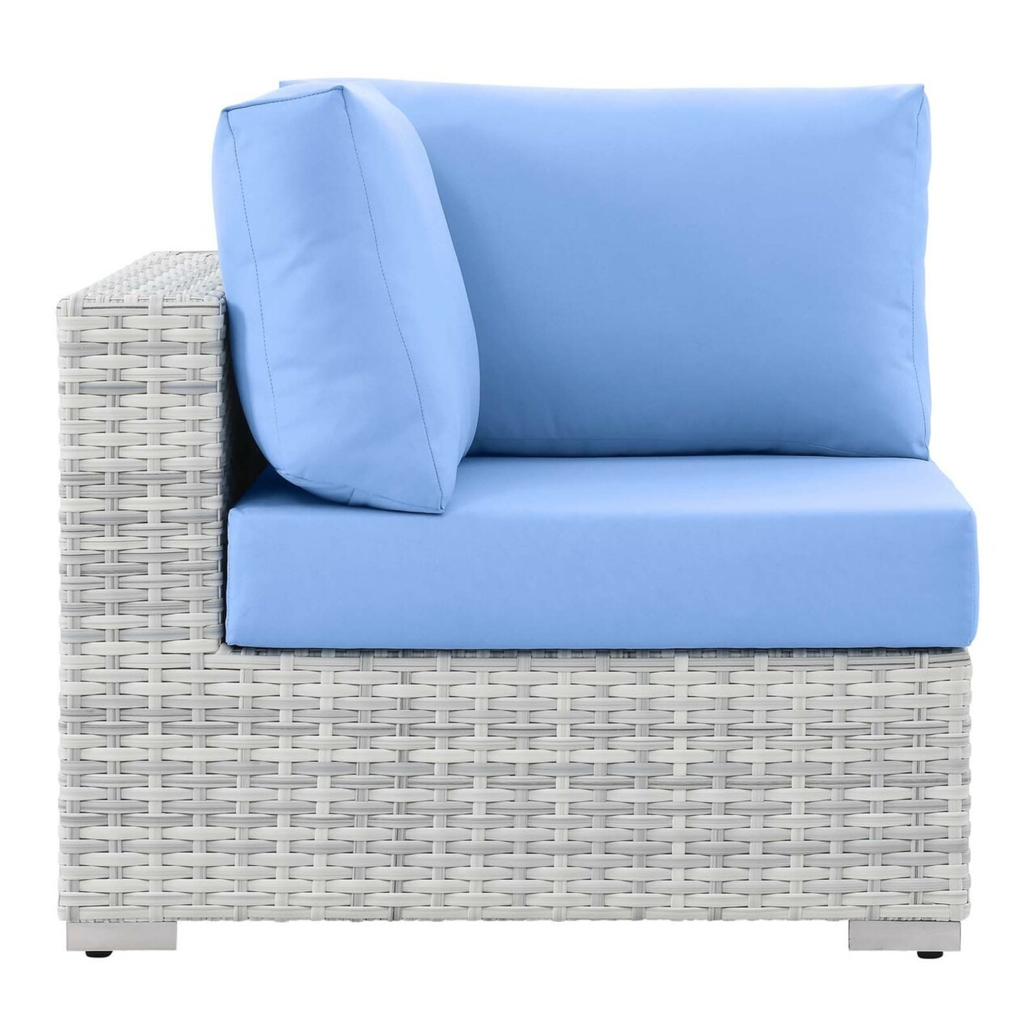 6-Piece Outdoor Patio Sectional In Light Blue Seat - image-10