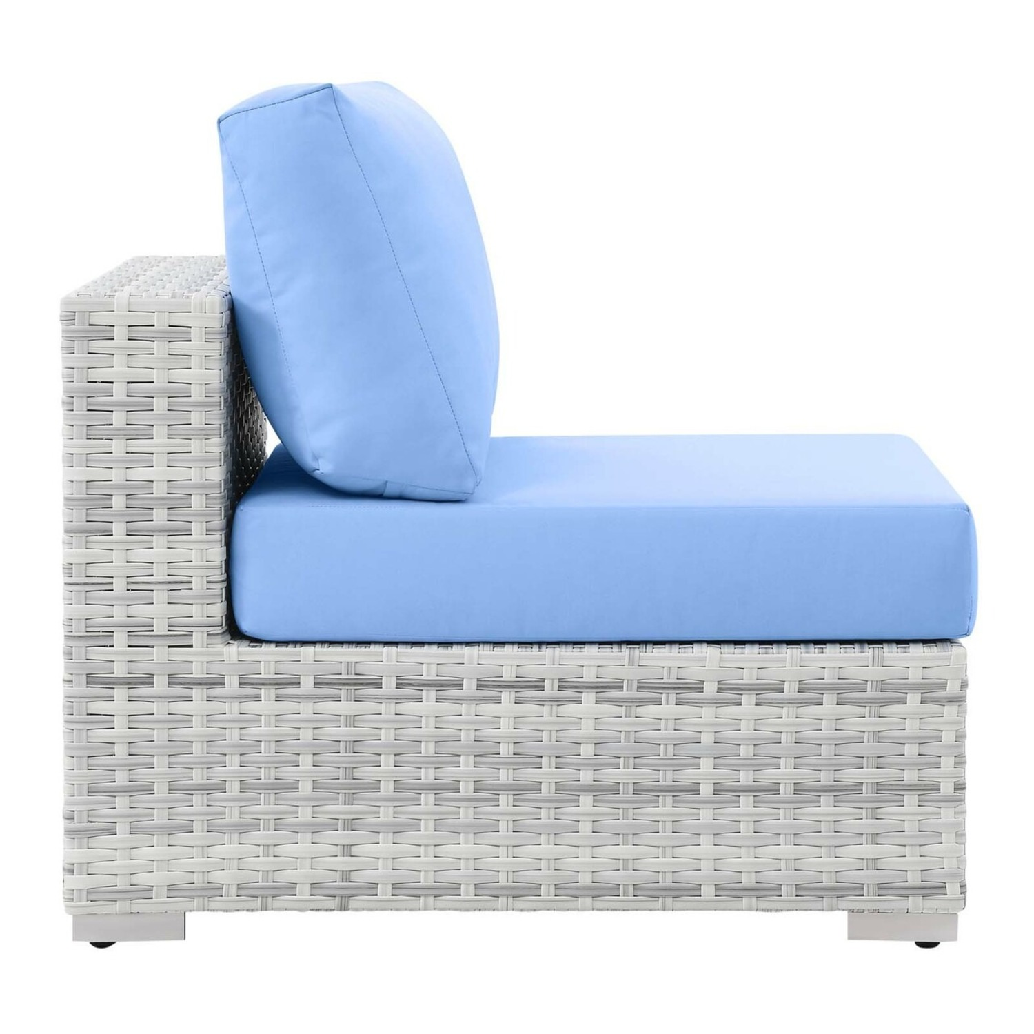 6-Piece Outdoor Patio Sectional In Light Blue Seat - image-3