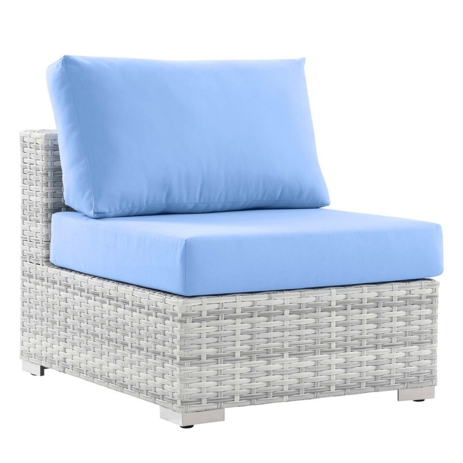 6-Piece Outdoor Patio Sectional In Light Blue Seat - image-2