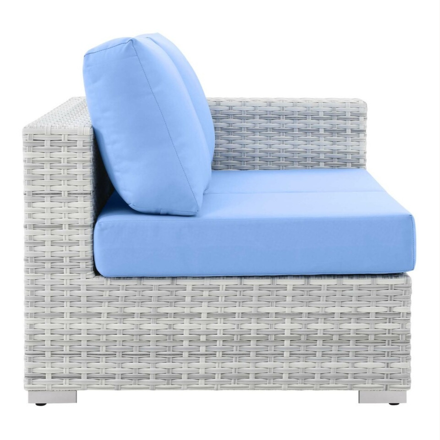 6-Piece Outdoor Patio Sectional In Light Blue Seat - image-8