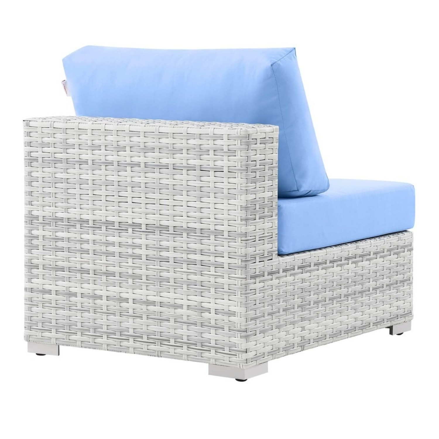 6-Piece Outdoor Patio Sectional In Light Blue Seat - image-4