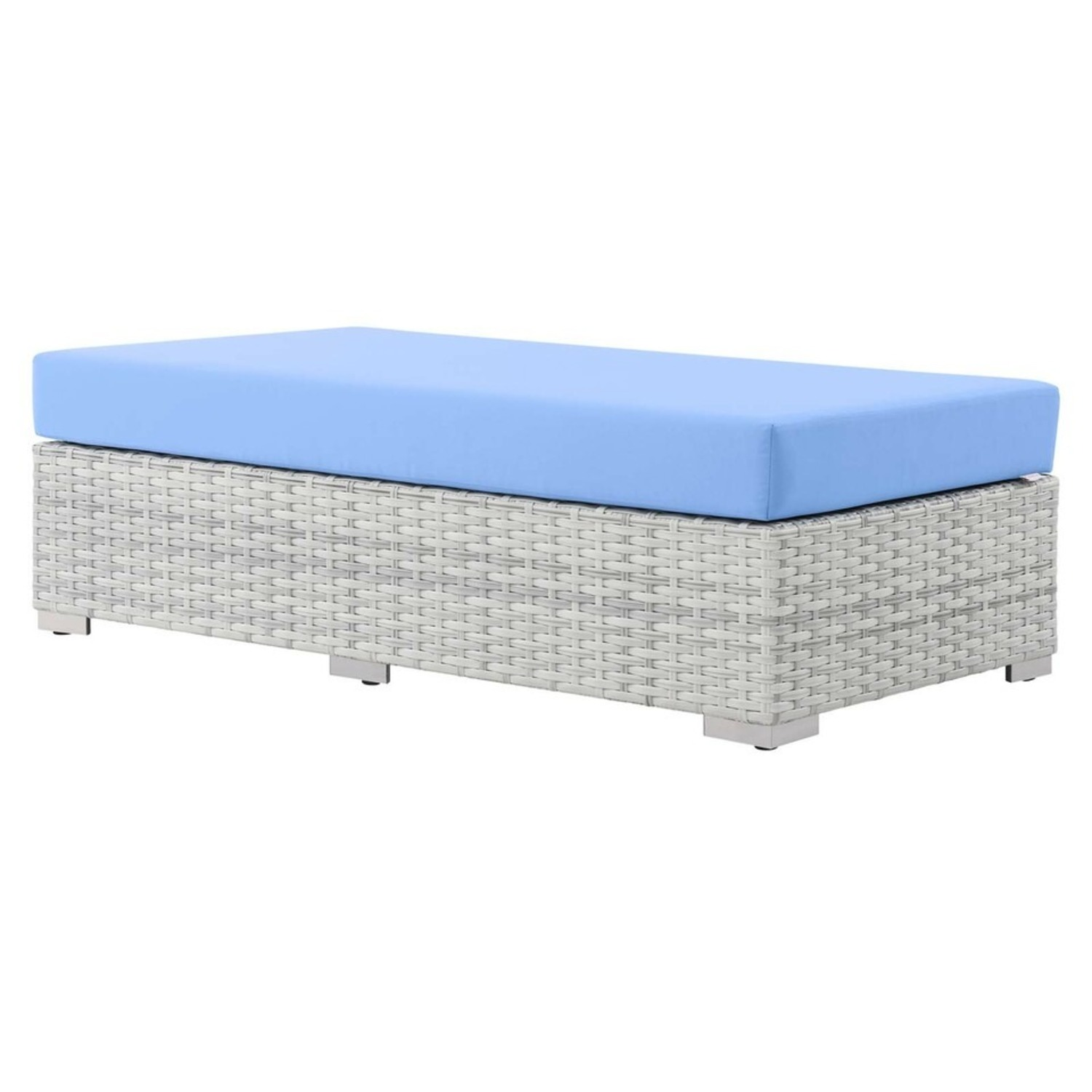 6-Piece Outdoor Patio Sectional In Light Blue Seat - image-12
