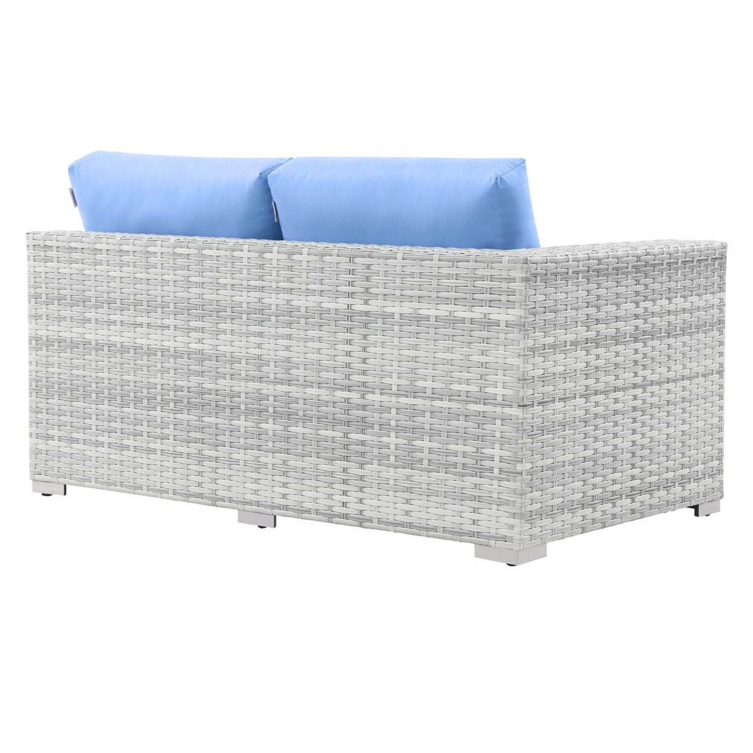 6-Piece Outdoor Patio Sectional In Light Blue Seat - image-7