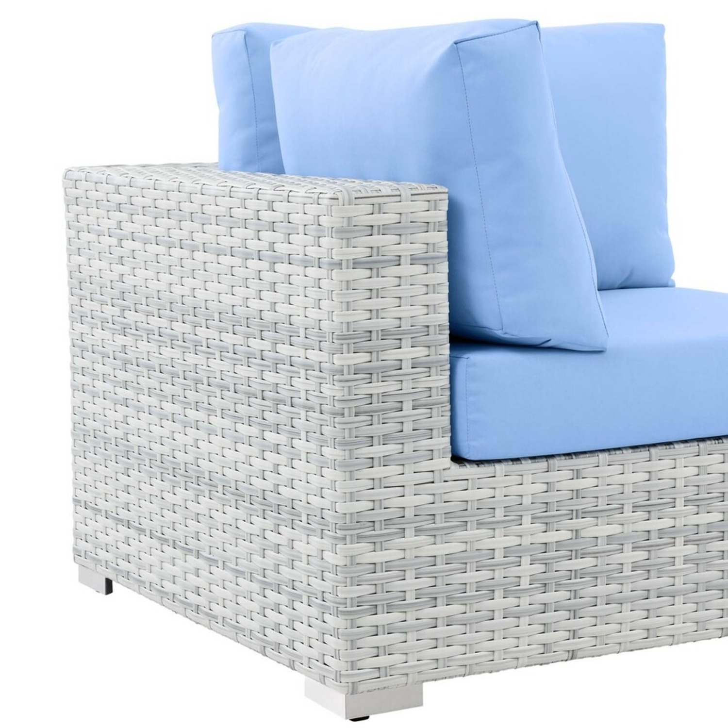 6-Piece Outdoor Patio Sectional In Light Blue Seat - image-11