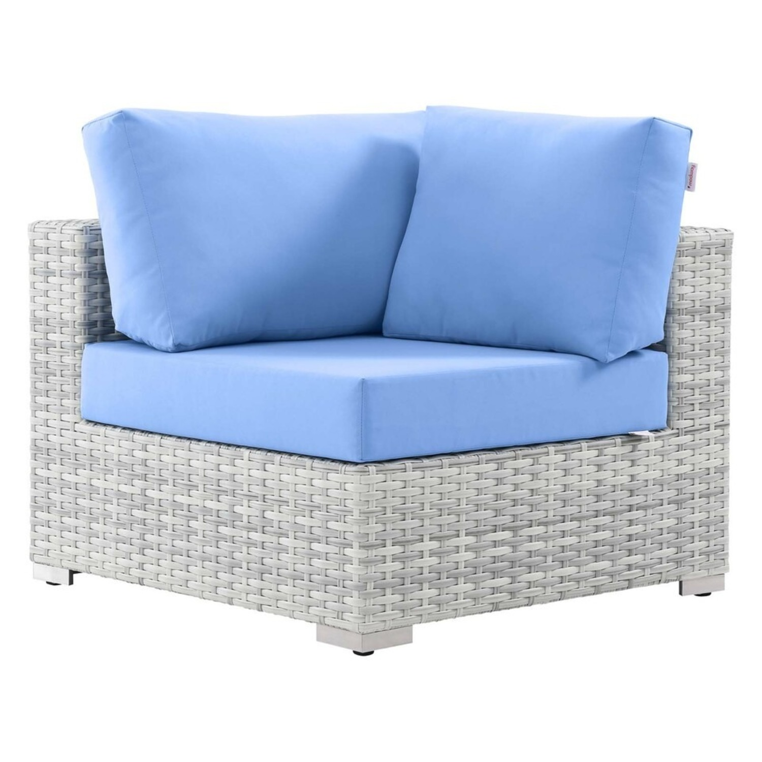 6-Piece Outdoor Patio Sectional In Light Blue Seat - image-9