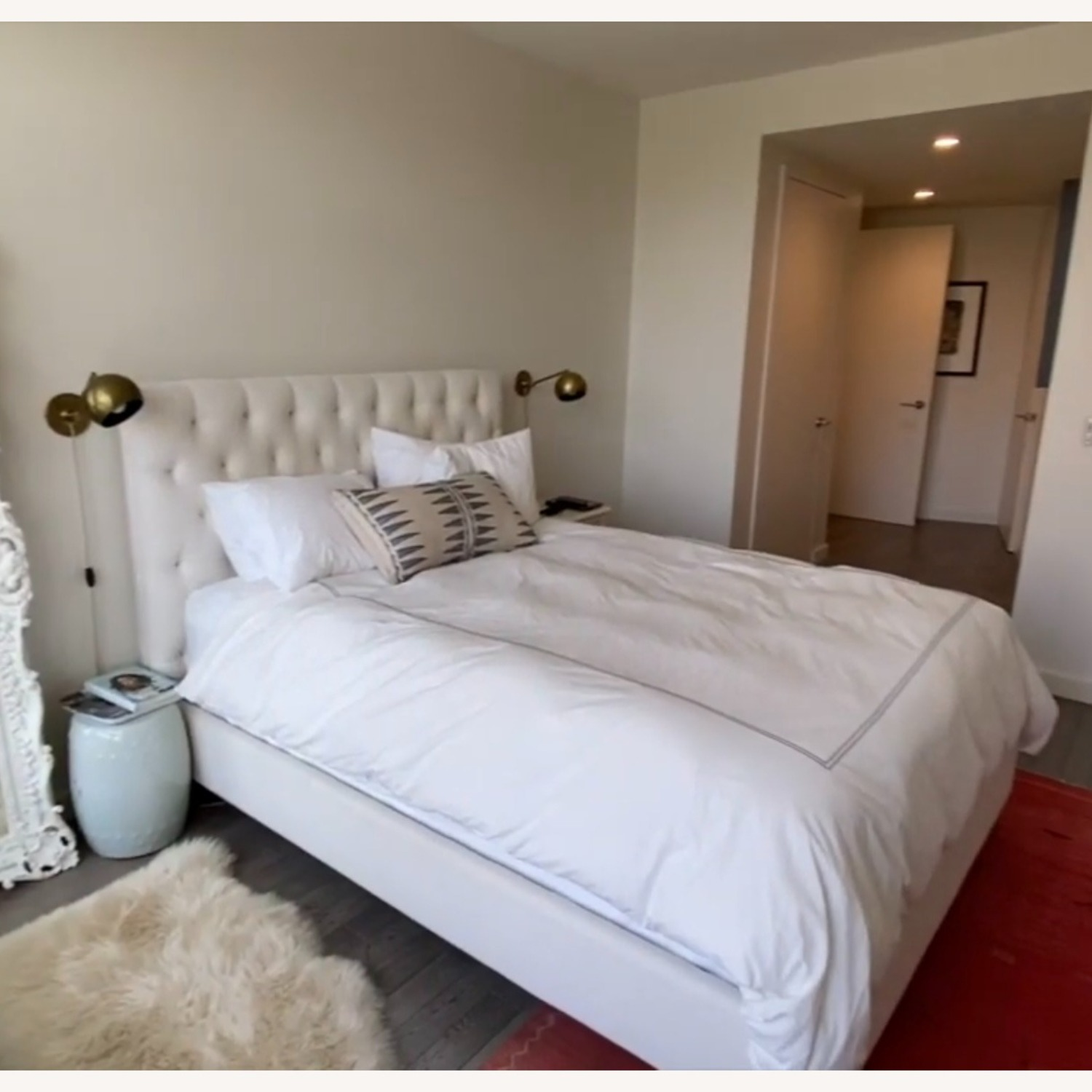 Restoration Hardware Chesterfield Fabric Panel Bed - image-3