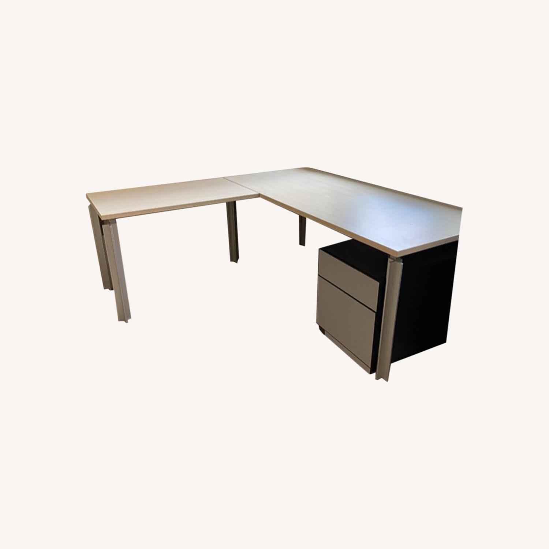 Bulo Designer Contemporary Desk with Steel Legs - image-0