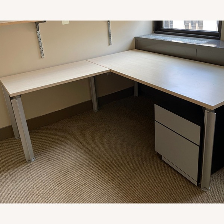 Bulo Designer Contemporary Desk with Steel Legs - image-4