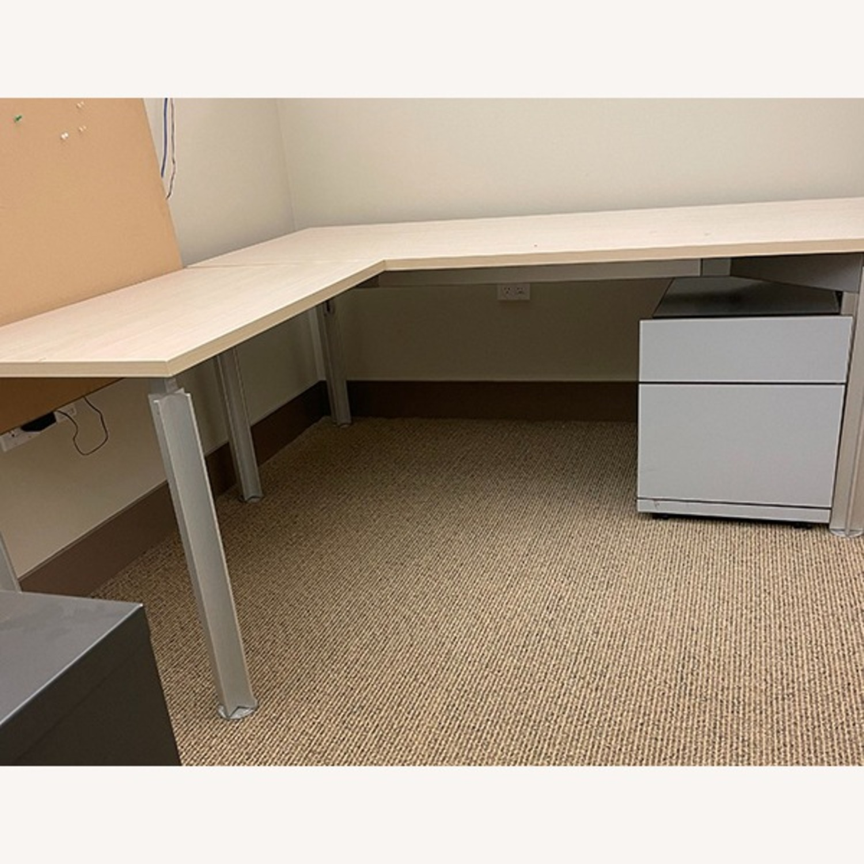 Bulo Designer Contemporary Desk with Steel Legs - image-1