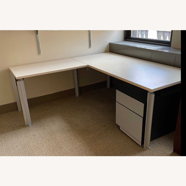 Bulo Designer Contemporary Desk with Steel Legs - image-5