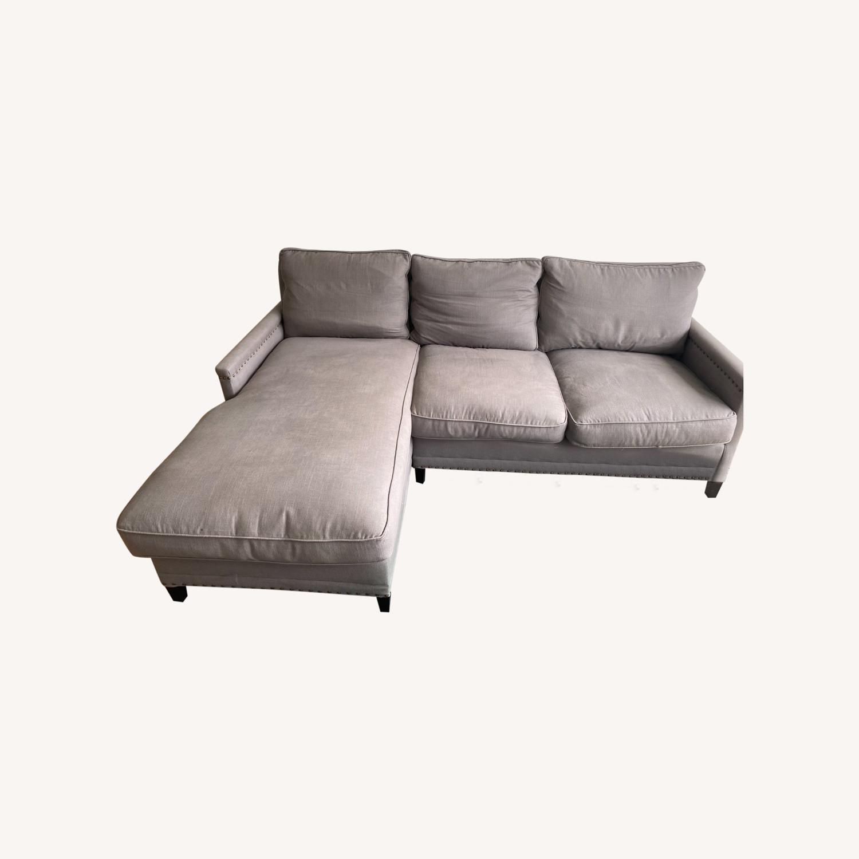 Williams Sonoma Gray Sectional Sofa - image-0