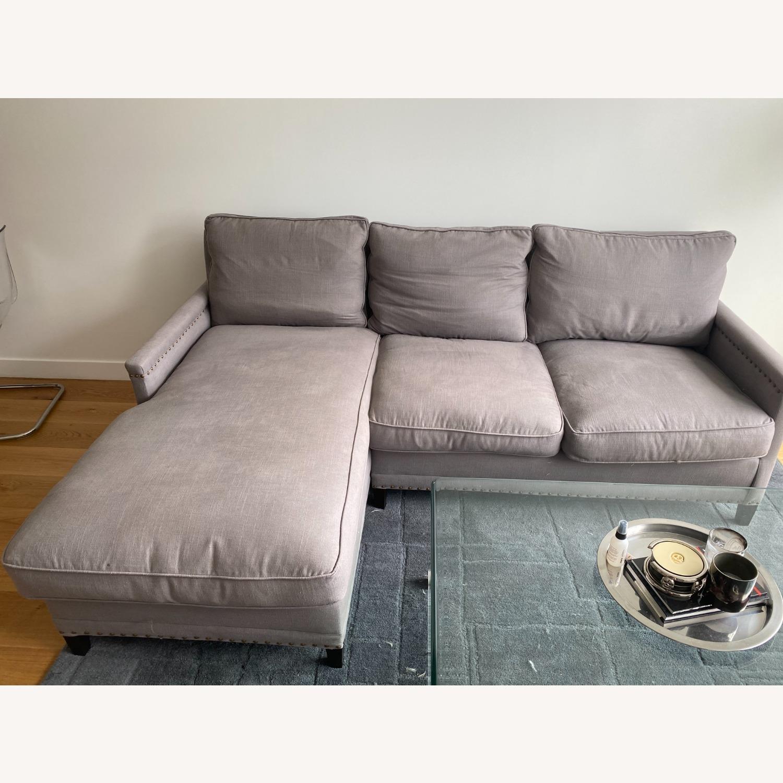 Williams Sonoma Gray Sectional Sofa - image-1