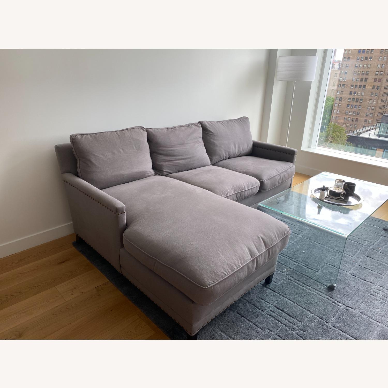 Williams Sonoma Gray Sectional Sofa - image-2