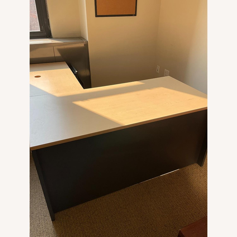Steelcase LDesk Laminated Wood Top & Cabinets - image-0