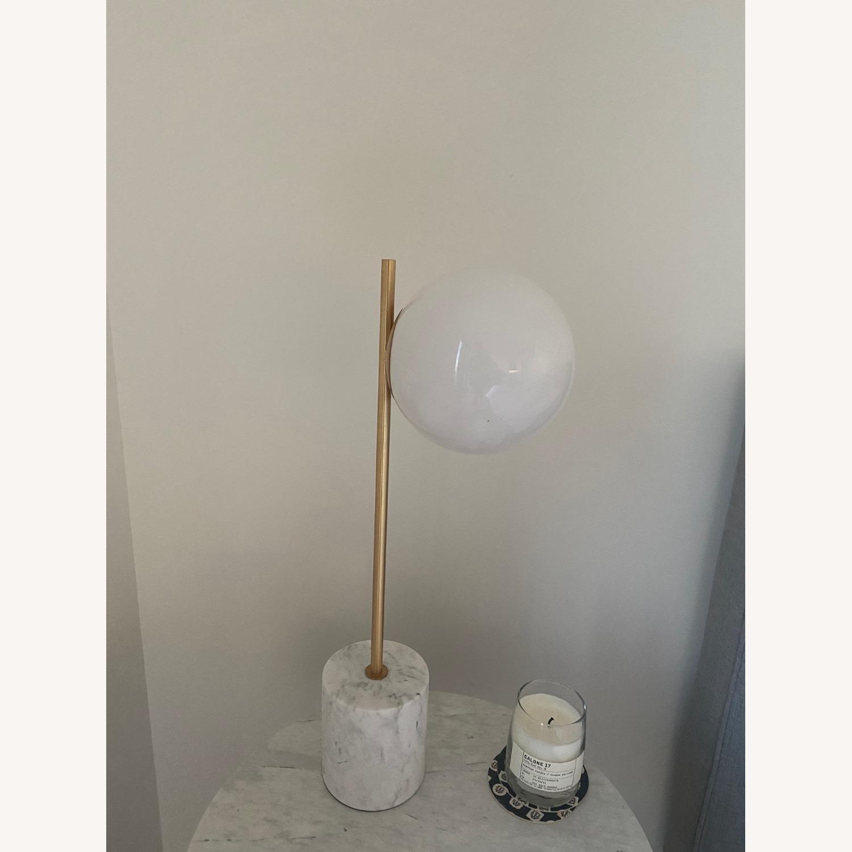 West Elm Penelope Nightstand Light Grey - image-3
