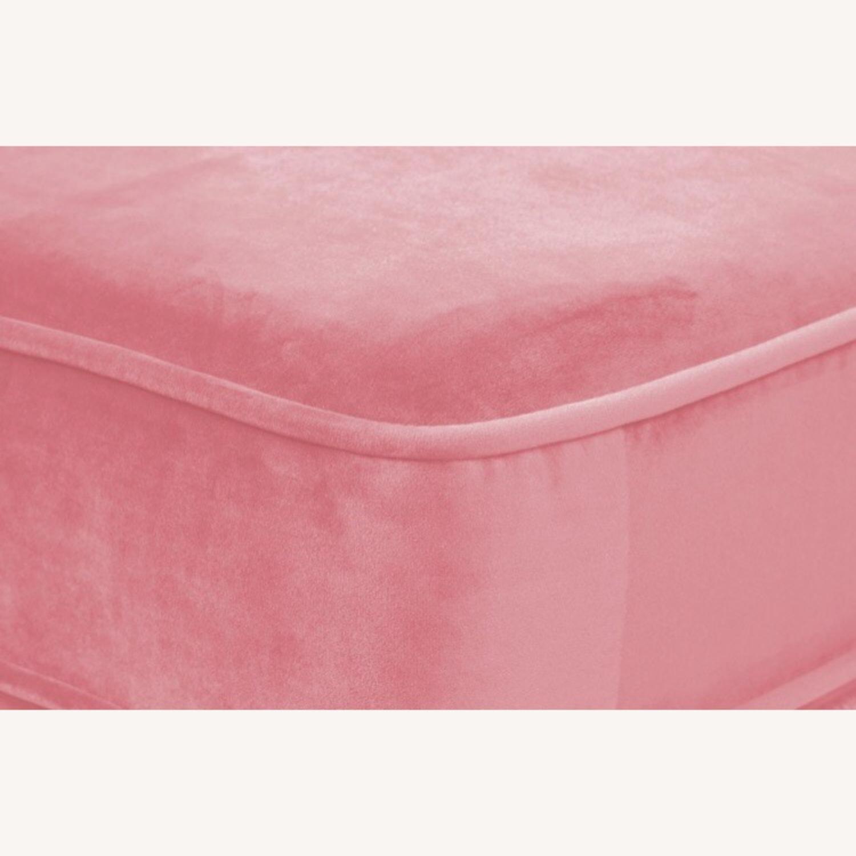 Albany Industries Pink Velvet Ottoman - image-4