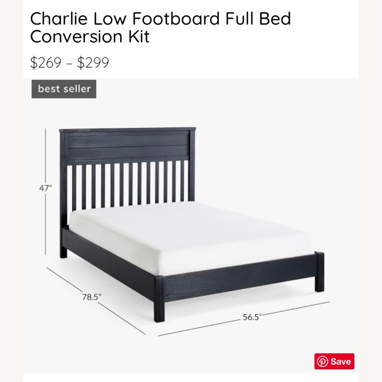 Pottery Barn Charlie Crib, Toddler Bed, Full Bed - image-5