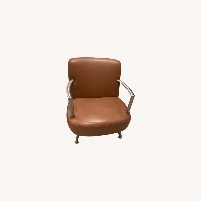Lowenstein Mid-century Saddle Brown Lounge Chair - image-0