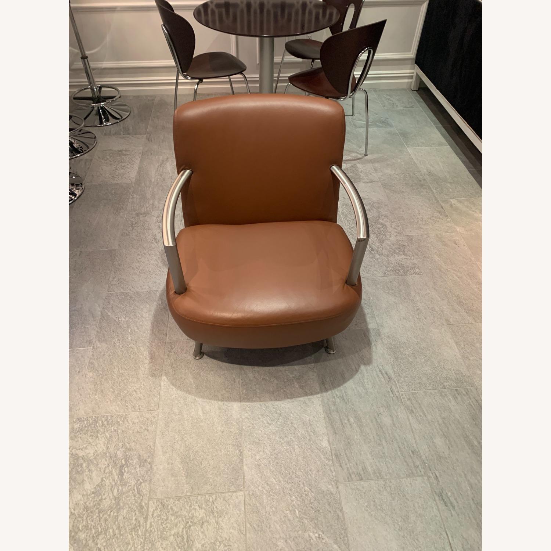 Lowenstein Mid-century Saddle Brown Lounge Chair - image-5