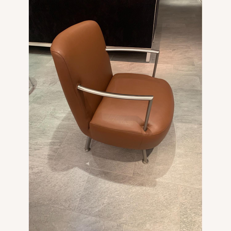 Lowenstein Mid-century Saddle Brown Lounge Chair - image-2
