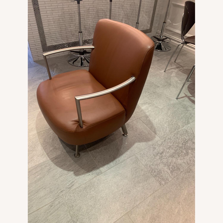 Lowenstein Mid-century Saddle Brown Lounge Chair - image-3