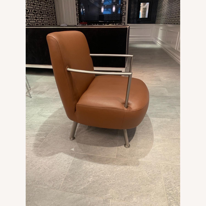 Lowenstein Mid-century Saddle Brown Lounge Chair - image-4