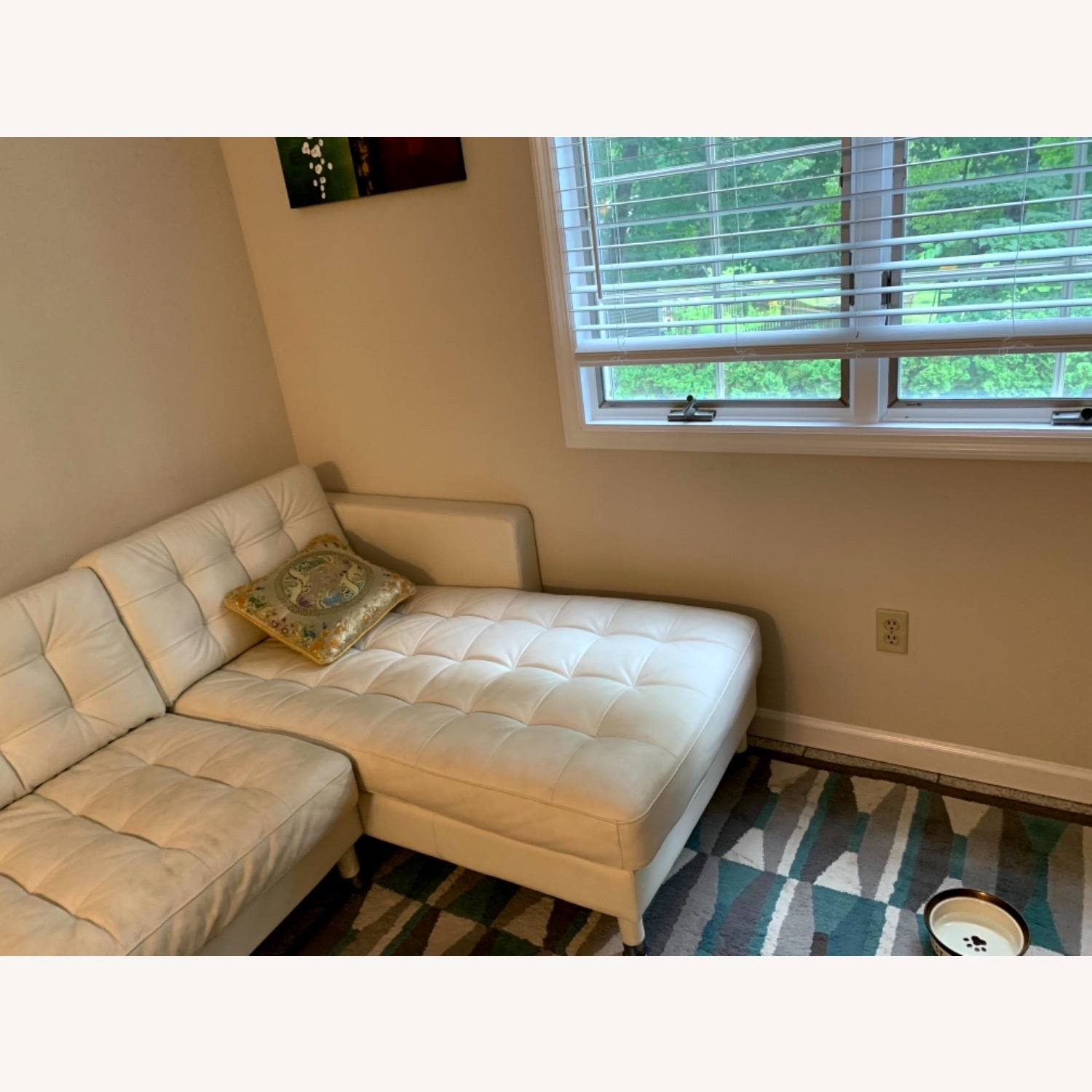 IKEA Sectional white Couch - image-2