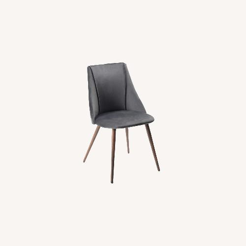 Used Wade Logan Charcoal Gray Faux Suede Dining Chairs for sale on AptDeco