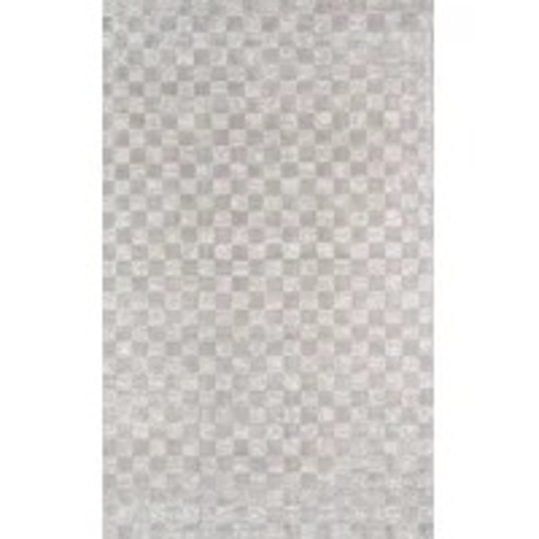 Wayfair Cream Checkered Silk Rug - image-2